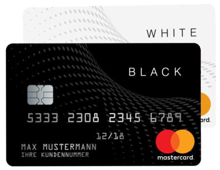 Black and white card kartenduo