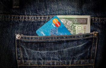 Geld auf Kreditkarte